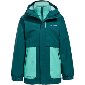 VAUDE Campfire 3in1 Jacket Girls petroleum
